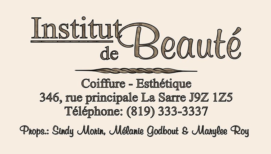 Institut de beauté carte affaire 2018 RECTO-min